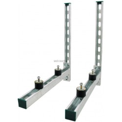 KIT SUPPORT CLIM ISO RAIL 41X21 AVEC CONSOLE 41X41 L 600 MM