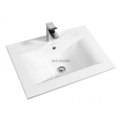 PLAN CERAMIQUE PREFIXE 70 SIMPLE VASQUE BLANC 814003