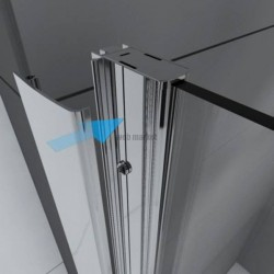 ACCES ANGLE COULISSANTE UPCITY 90 V.TR CHROME UCYA87L-1K