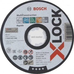 DISQUE MULTIMAT.X-LOCK 125X1.6 PLT 2608619270